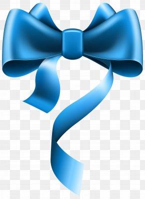 Blue Ribbon - Ribbon Blue Bow Tie Clip Art PNG