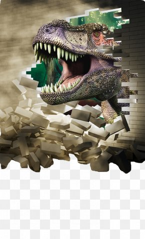 Dinosaur - Wall Decal Three-dimensional Space Sticker Decorative Arts Wallpaper PNG