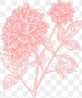 Large Floral Cliparts - Floral Design Flower JD NAIL SPA & SALON Dahlia Clip Art PNG