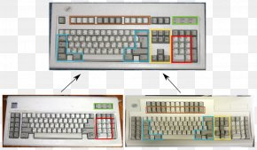 Ibm - Computer Keyboard Model M Keyboard IBM Personal Computer/AT Thumb Keyboard PNG