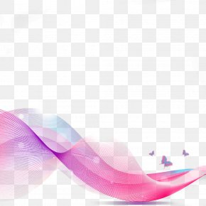 Pink Abstract Creative Curve PPT - Pink Curve Abstraction Computer File PNG