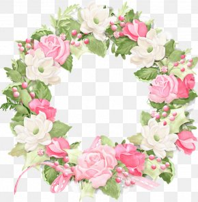 Rose Ring - Rose Flower Wreath Clip Art PNG