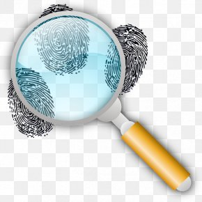 Magnifying Glass - Fingerprint Forensic Science Magnifying Glass Footprint Clip Art PNG