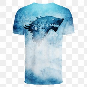 T Shirt 3d - Daenerys Targaryen Winter Is Coming Eddard Stark Jon Snow House Stark PNG