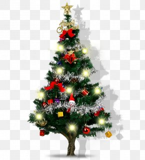 Glowing Christmas Tree - Santa Claus Christmas Tree Christmas Ornament Christmas Decoration PNG