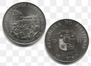 Coin - Philippine Ten Peso Coin People Power Revolution Philippines Philippine Revolution PNG