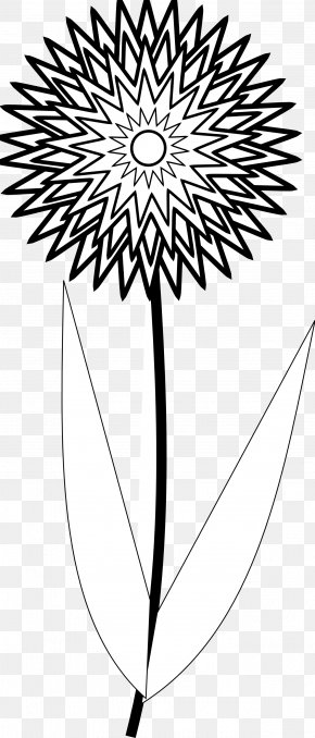 Flowers Line Art - Tattoo Flower Black And White Drawing Clip Art PNG