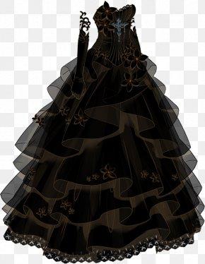 Special Black Wedding Dress - Gown Black Dress PNG