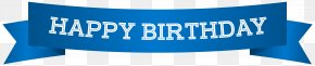 Happy Birthday Banner Blue Clip Art Image - Banner Birthday Clip Art PNG