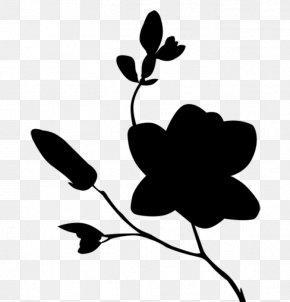 M Clip Art Leaf Silhouette Plant Stem - Black & White PNG