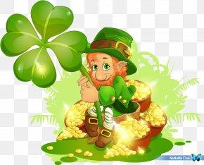 Saint Patrick's Day - Saint Patrick's Day Leprechaun Clover Clip Art PNG