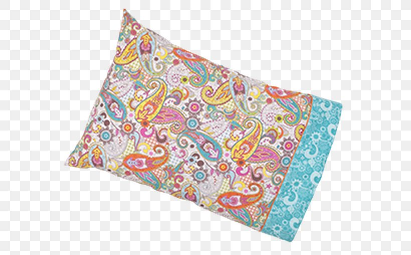 Paisley Textile Cushion Turquoise, PNG