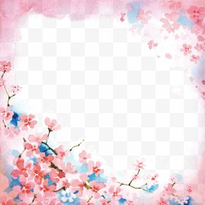 Cherry Blossoms - Cherry Blossom Watercolor Painting PNG
