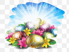 Eggs And Sky - Easter Bunny High-definition Television Easter Egg Wallpaper PNG