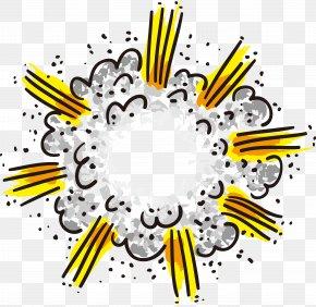 Vector Cloud Comics Explosion - Explosion Clip Art PNG