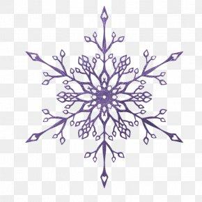 Purple Snowflake Pattern - Snowflake Crystal Euclidean Vector Sticker Glitter PNG