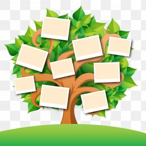 Vector Family Tree With Leaves - Family Tree Genealogy Book PNG
