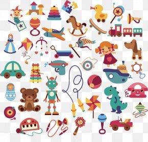 Cartoon Toys Vector Material - Cartoon Toy Child Clip Art PNG