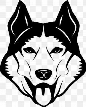 Vector Cartoon Wolf - Dog Breed Illustration PNG