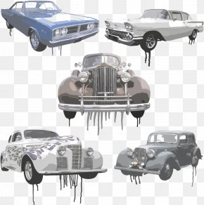 Vector Idle Car - Vintage Car Classic Car Euclidean Vector Idle PNG
