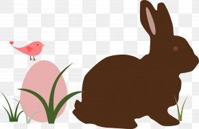 Easter Bunny - Easter Bunny Rabbit Silhouette Clip Art PNG