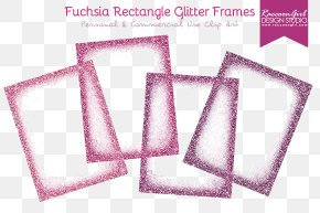 Fuchsia Border Frame Clipart - Picture Frame Glitter Digital Photo Frame PNG