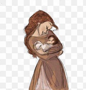 Mother Holding A Child - Drawing Child Mother Infant Sketch PNG