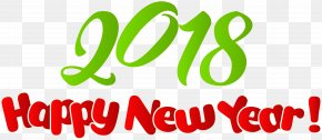2018 Happy New Year Clip Art Image - New Year Wish Clip Art PNG