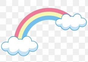 Rainbow On Clouds - Sky Rainbow Cloud Arc Euclidean Vector PNG