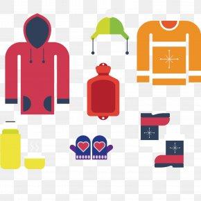 Winter Clothing Graphic Design - T-shirt Clothing Flat Design Designer PNG