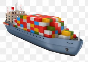 A Cargo Ship Filled With Colorful Six-color Box - Book Business Accounting Management Diploma PNG