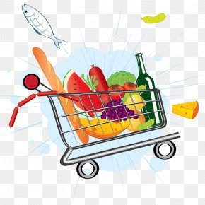 Shopping Cart - Vector Graphics Grocery Store Shopping Cart Supermarket Clip Art PNG