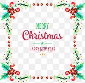 Christmas Fruit Border - Christmas New Year Gift PNG
