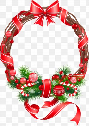 Christmas Wreath Ornament Clipart - Christmas Ornament Christmas Decoration Clip Art PNG
