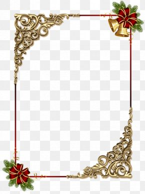 Gold Decorative Frame - Borders And Frames Christmas Ornament Picture Frame Clip Art PNG