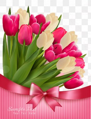 Tulip - Mothers Day Flower Bouquet PNG