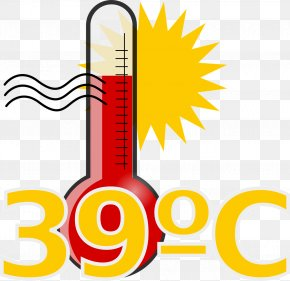 Summer Hot Weather - Thermometer Temperature Clip Art PNG