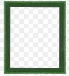 Vintage Green Frame - Square Area Picture Frame Text Pattern PNG