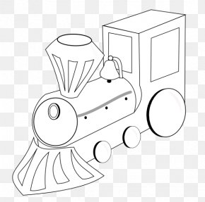 Train Line Art - Line Art Train Black And White Drawing Clip Art PNG
