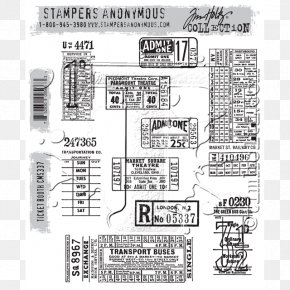 Ticket Booth - Rubber Stamp Postage Stamps Ticket Sizzix Stampers Anonymous PNG