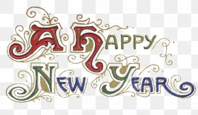 Happy New Year - New Year's Day Wish January 1 PNG