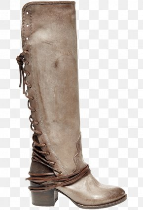 Leather Boots - Riding Boot Zipper Knee-high Boot Shoe PNG
