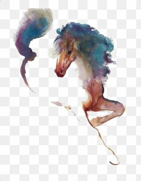 Horse - Standing Horse The Art Of Painting Watercolor Painting Pony PNG