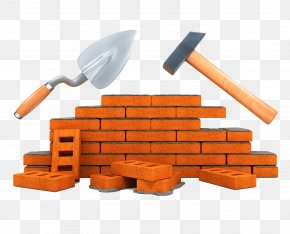 Brick Hammer Shovel - Architectural Engineering Building Material Tool Construction Worker PNG