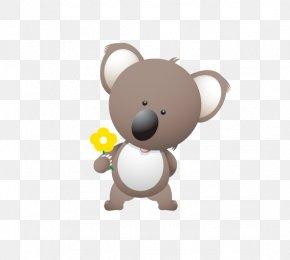 Holding Flowers Koala - Koala Bear T-shirt Cuteness Clip Art PNG