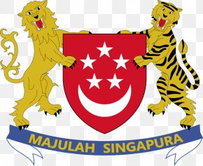 Flag - Colony Of Singapore Flag Of Singapore Coat Of Arms Of Singapore PNG