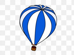 Blue-hot-air-balloon - Hot Air Balloon Air Travel Clip Art PNG
