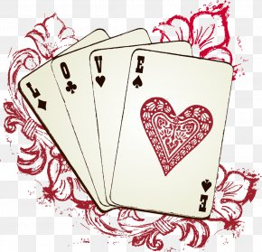 Vector Hand-painted Cards - Playing Card Royalty-free Euclidean Vector PNG