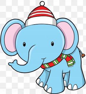 Elephants - Santa Claus Clip Art: Transportation Christmas Elephant Clip Art PNG