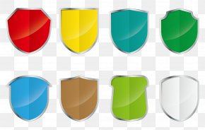 Shield Color Vector - Green Red Yellow PNG